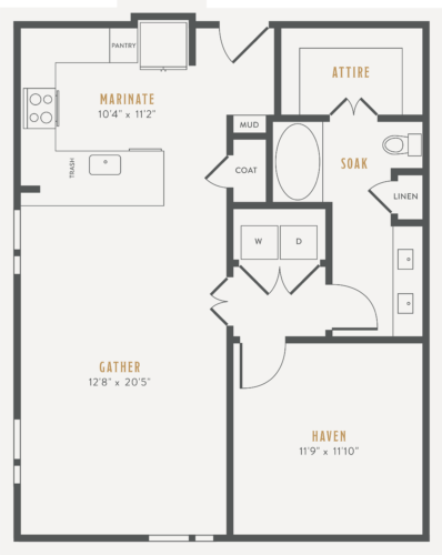 Alexan Lower Greenville One Bedroom Floor Plans A10