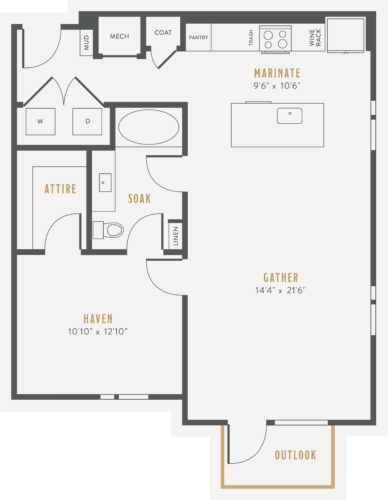 Alexan Lower Greenville One Bedroom Floor Plans A12