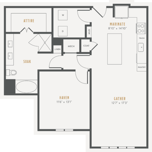 Alexan Lower Greenville One Bedroom Floor Plans A15