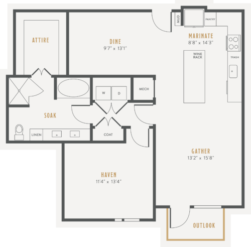 Alexan Lower Greenville One Bedroom Floor Plans A17