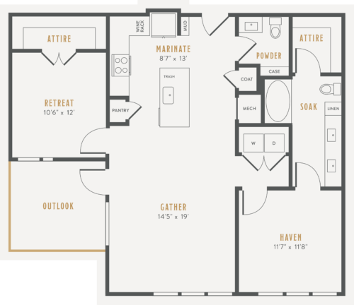 Alexan Lower Greenville One Bedroom Floor Plans A19