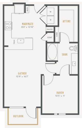 Alexan Lower Greenville One Bedroom Floor Plans A2