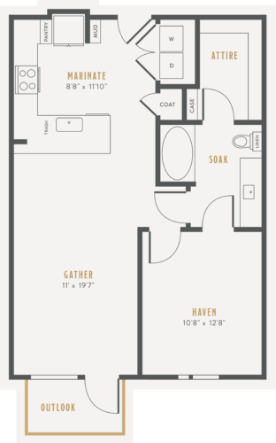 Alexan Lower Greenville One Bedroom Floor Plans A4