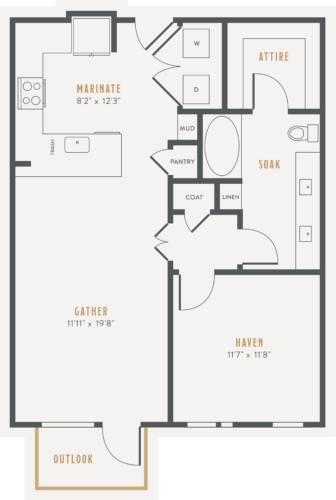 Alexan Lower Greenville One Bedroom Floor Plans A7