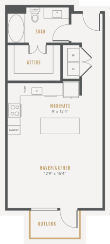 Alexan Lower Greenville Studio Floor Plans E2