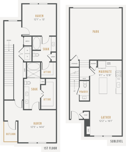Alexan Lower Greenville Townhomes Floor Plans TH2